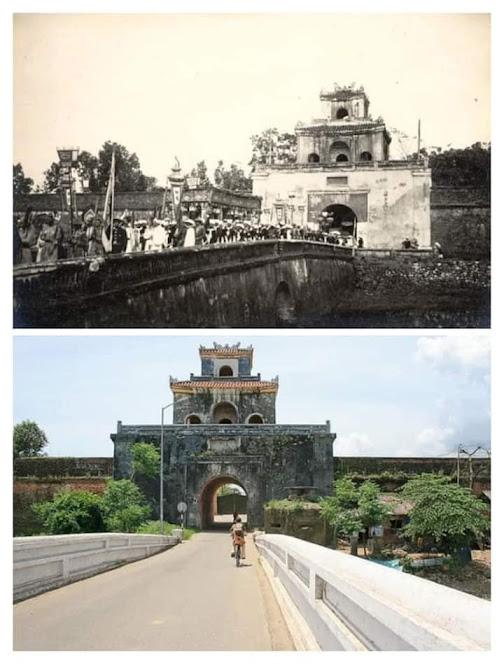 So sánh cổng thành Huế xưa và nay