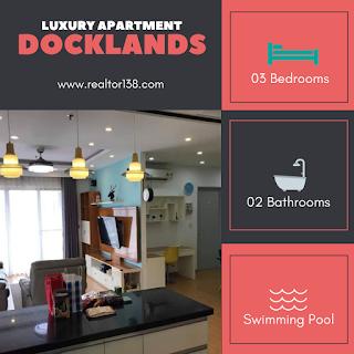 căn hộ cao cấp Docklands 3 phòng ngủ phường Tân Phú