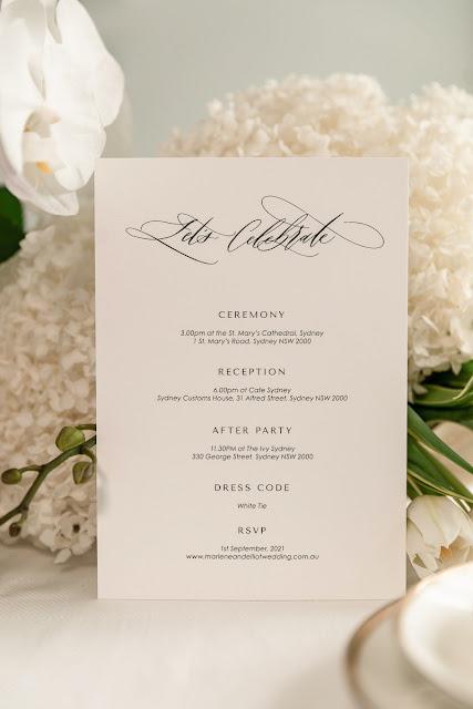 luxury calligrapher LOVE COLLECTION wedding stationery invitations menus custom