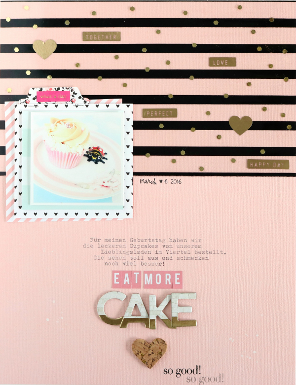 Eat More Cake | Scrapbooking Layout | Felicity Jane Februar Kit