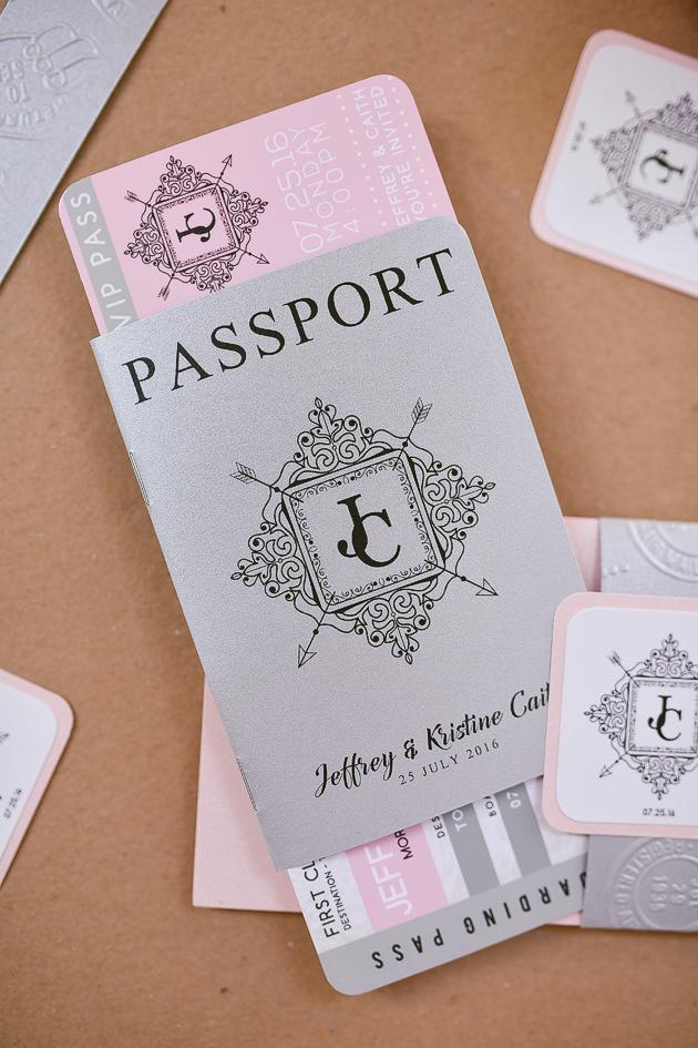 Jeff Kristine Passport Wedding Invitation Stunro CreativeWorks – Passport Themed Wedding Invitations