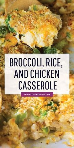 This easy broccoli, rice, and chicken casserole is topped with a buttery Ritz cracker crust. This meal comes together in less than 45 minutes and it takes one bowl and one casserole dish!