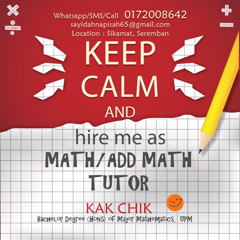 tutor matematik seremban