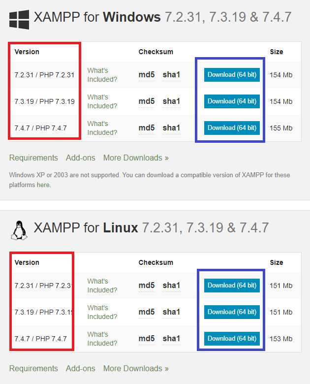 Proses Download XAMPP Untuk Windows dan Linux