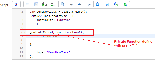 Define Private Function in Script Include