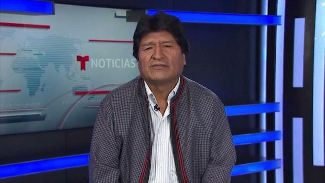 Morales denuncia que EEUU no quiere que él regrese a Bolivia