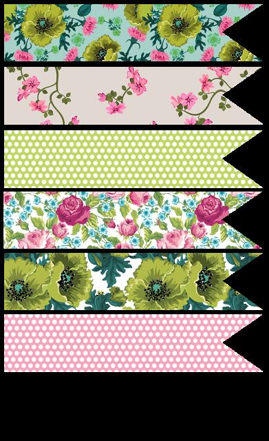 floral polka dot planner printables