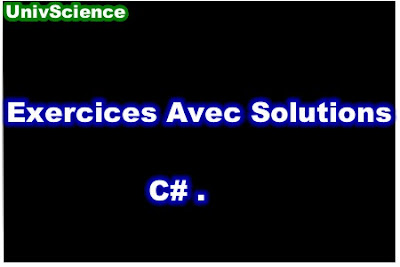 Exercices Avec Solutions C# PDF.