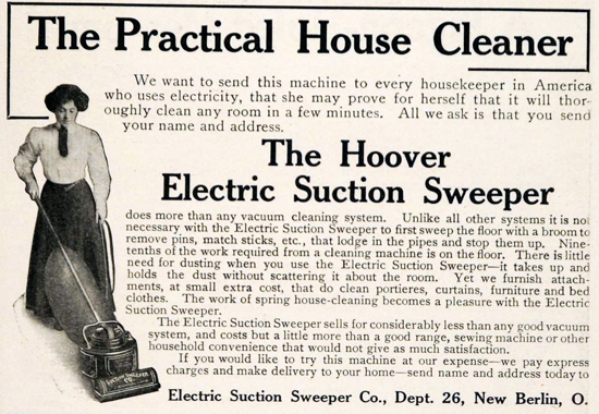 Hoover advertising in the Everybody's Magazine