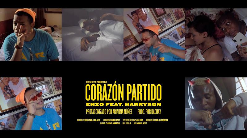 Enzo La Melodía Secreta & Harryson - ¨Corazón partido¨ - Videoclip - Director: Pablo Galafat. Portal Del Vídeo Clip Cubano. Música cubana. CUBA.