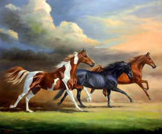 Caballos Corriendo Pintura