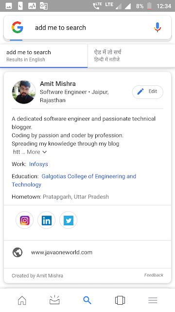 amit mishra google people card