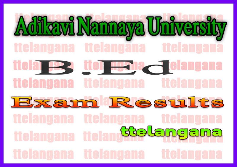 Adikavi Nannaya University AKNU B Ed Exam Results