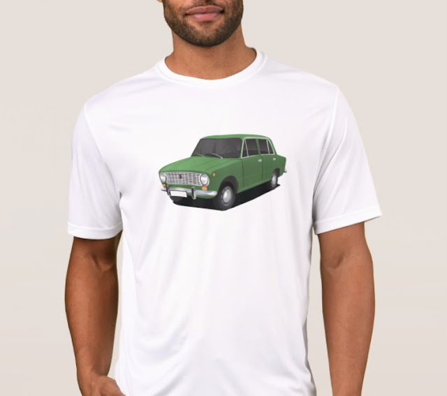 vaz-2101 Lada 1200 automobile t-shirts soviet union