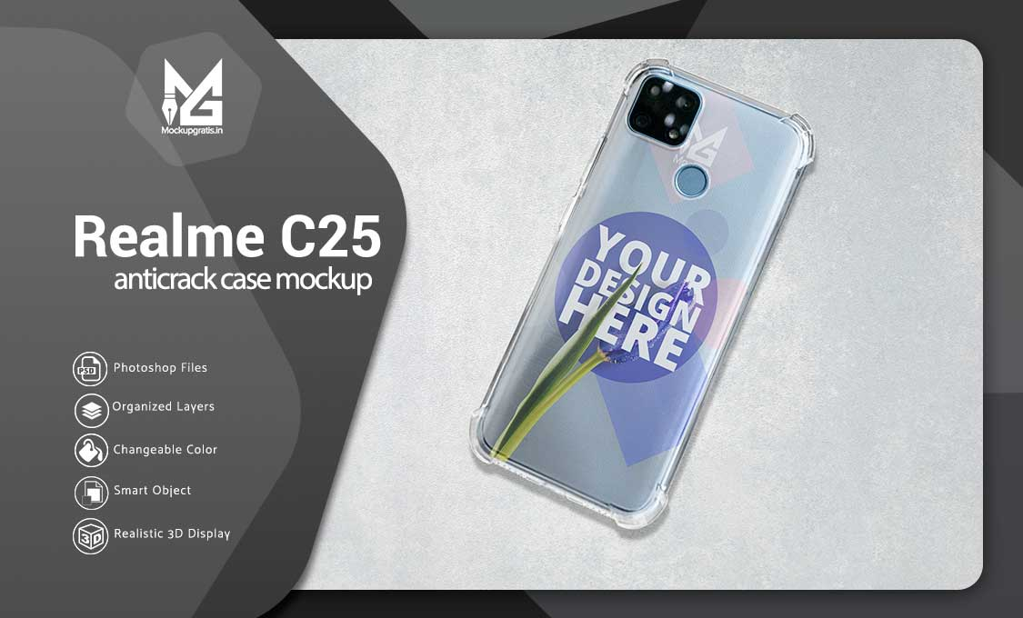 Mockup Case Anticrack Realme C25