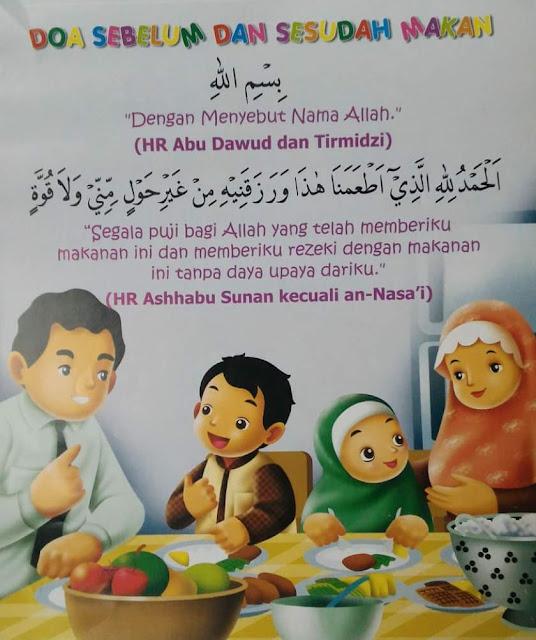 Doa Harian Untuk Anak Anak , Doa Sebelum Makan , Doa Sesudah Makan , Doa Sebelum Dan Sesudah Makan Bergambar