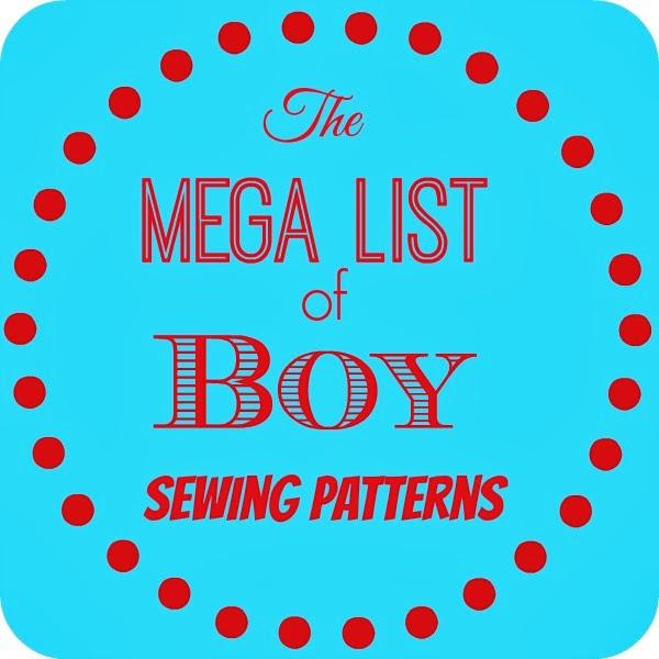 Mega List Of Boy PDF Sewing Patterns Beatnik Kids Custom Boy Patterns