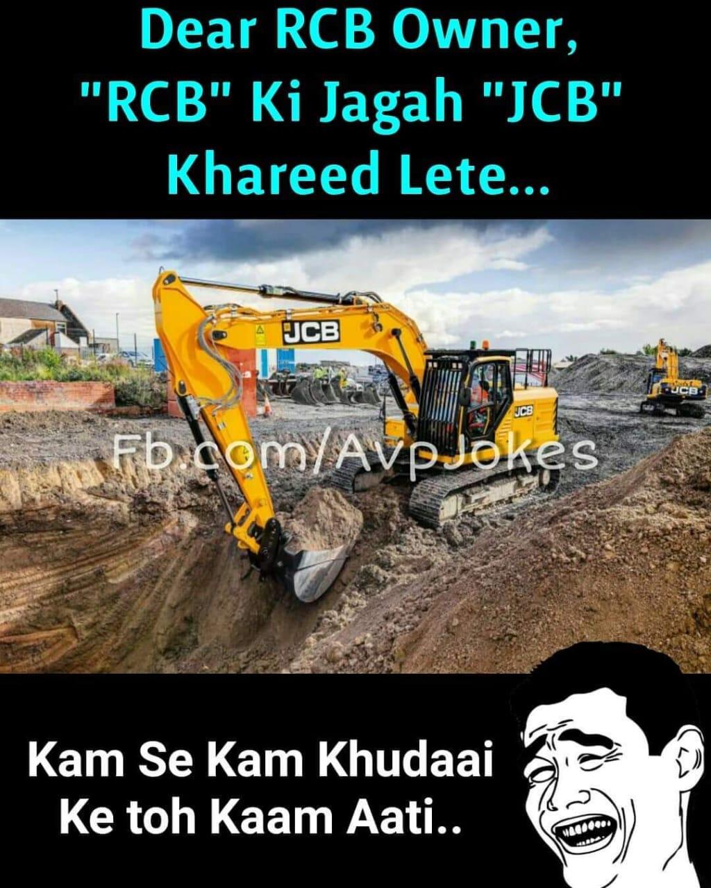RCB ki team pe bane funny jokes and memes