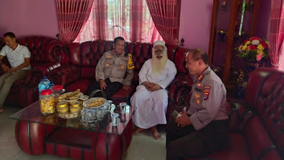 Jalin Sinergitas, Dirbinmas Polda Banten Safari Ibadah Ke K.H. Abah H. Sar'i