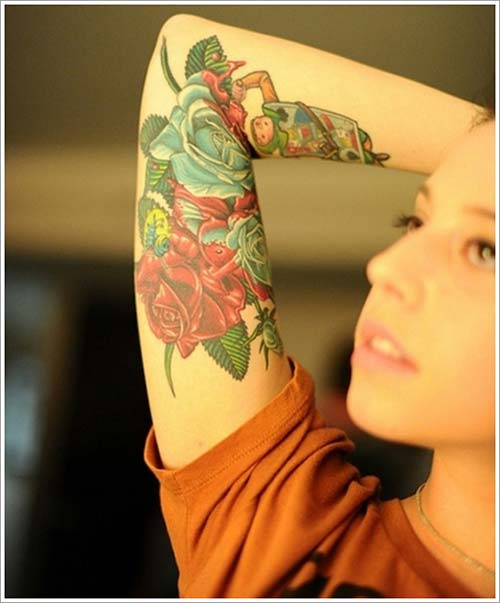 kadın kol dövmeleri arm tattoo for woman 8