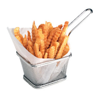 fry basket, mesh basket, french fries basket