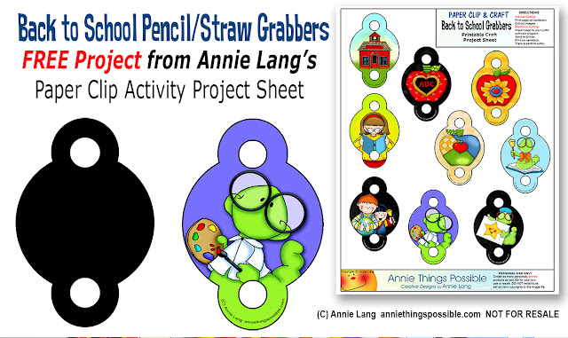 Grab On with Annie Langs Back to School Pencil and Straw Grabbers