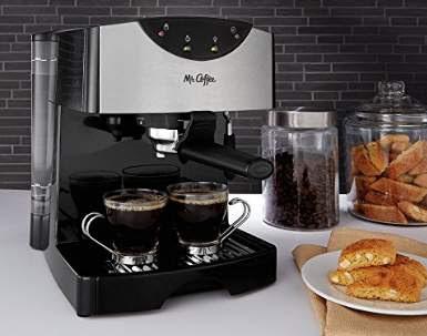 Mr coffee automatic dual shot espresso