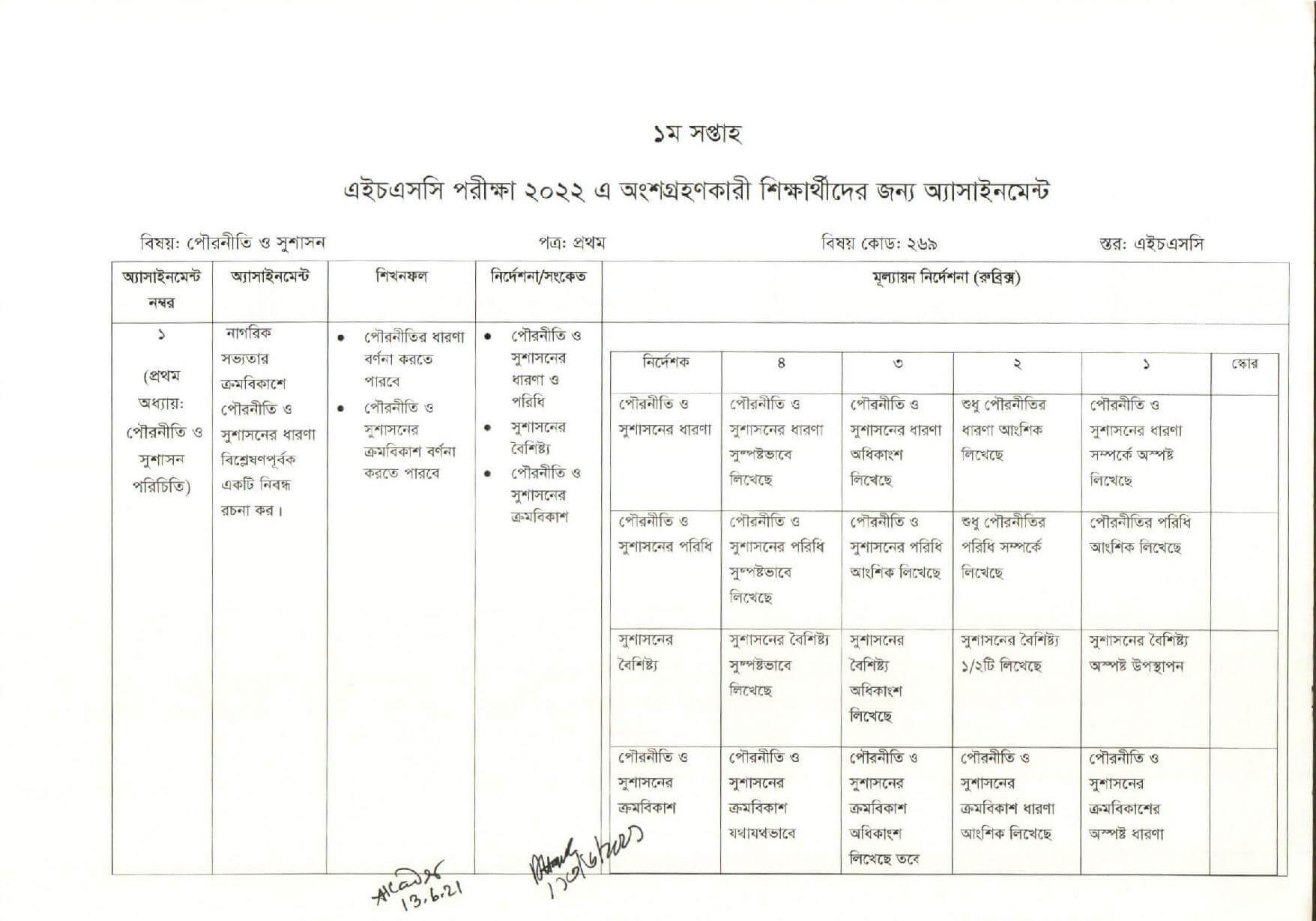Civics Assignment