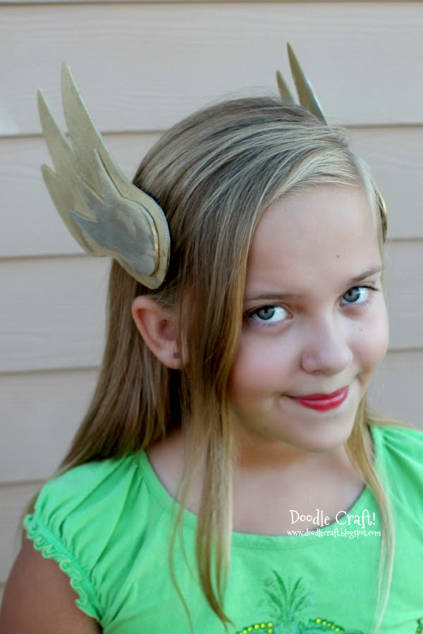 Winged headband made with fun foam, perfect for Thor, Valkyrie or Hermes, or winged messenger.