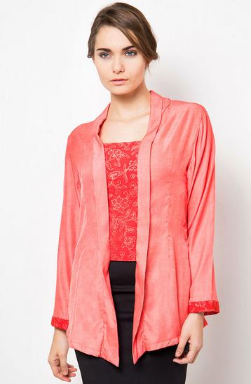 Model Baju Kebaya Muslim Warna Pink Wisuda