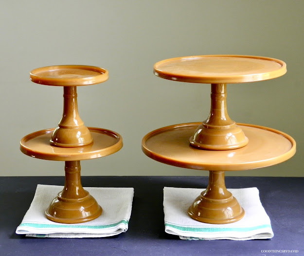 Martha by Mail Caramel Glass Cake Stands