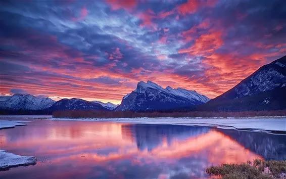 Winter-snow-lake-sky-clouds-sunset-glow-mountain_m.webp