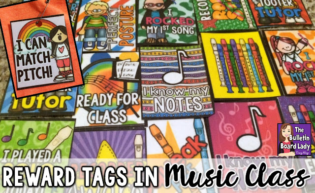 Learn to use Reward Tags in Music Class or any special area class.  Reward tags are an incredible student behavior incentive and can be used in older students as well as Kindergarten and other young learners.  You'll find ideas for using these printable sanity savers even if you only see your students once a week.