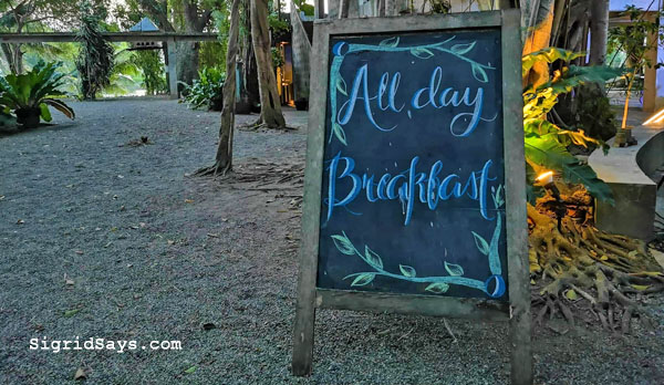 all-day breakfast menu at Punong Gary's Place - Silay City restaurants - Bacolod blogger - Silay restaurants - Negros Occidental - Punong Gary's Place menu - Punong Gary's Place location - destination restaurant - destination dining - Silay airbnb