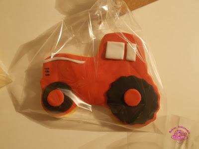 Galletas fondant tractor