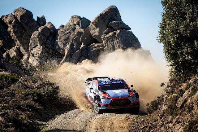 Rally car drifting