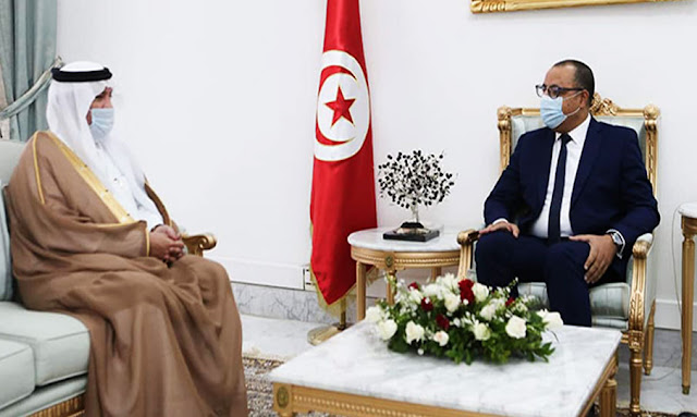 تونس : هشام مشيشي يستقبل سفير السعودية