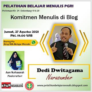 Membangun Komitmen menulis di Blog