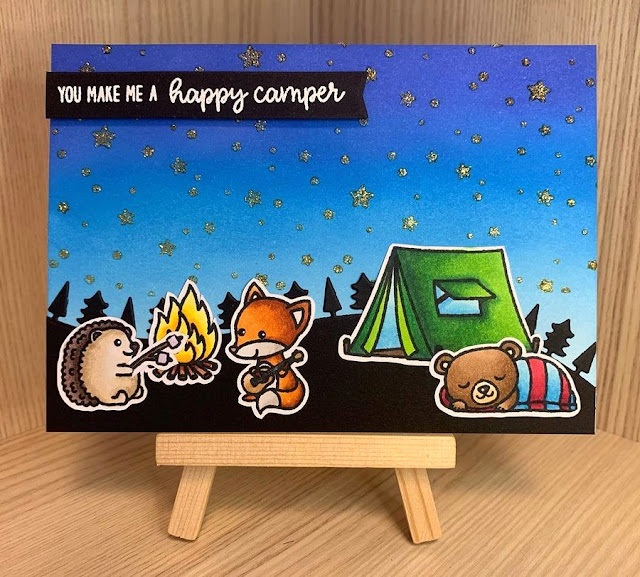 Sunny Studio Stamps: Critter Campout Customer Card by Mina