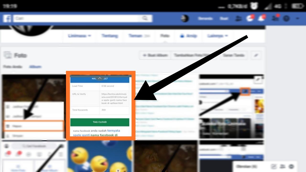 cara menghapus semua foto di facebook sekaligus lewat hp