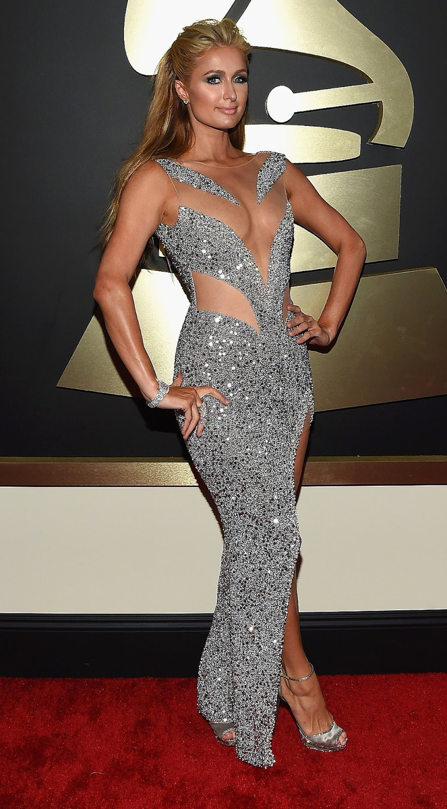 Paris Hilton  2015 Grammy Red Carpet