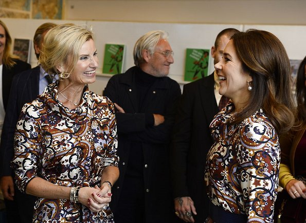 Crown Princess Mary and Danish fashion designer Lærke Andersen Danish designer Britt Sisseck olga dress