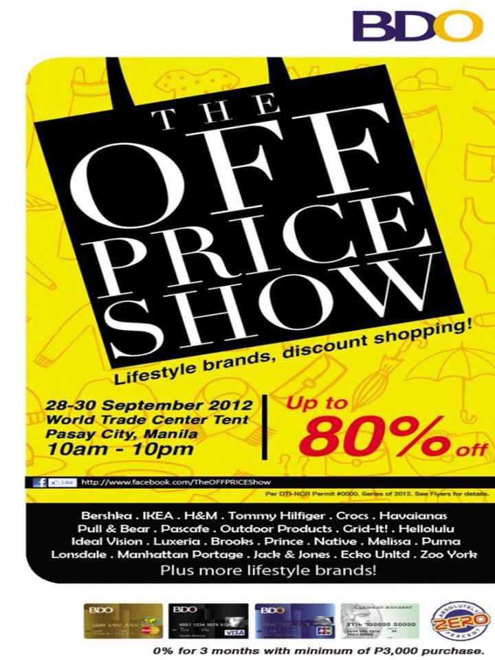 Manila Life The Off Price Show At World Trade Center Tent