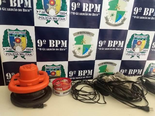 Menor e objetos furtados de aeronave são apreendidos pela PM em Araguatins