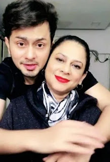 Awez Darbar with his mother, Awez Darbar mother