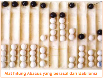 Alat hitung Abacus yang berasal dari Babilonia