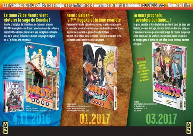 Naruto Gaiden - Le 7ème Hokage et la Lune Écarlate, Boruto - Naruto Next Generations, Kana, Manga, Actu Manga,