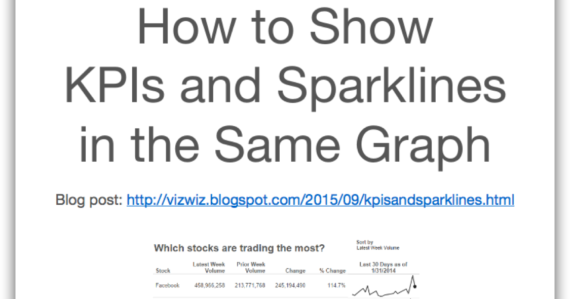 Tableau Tip Tuesday: How to Show KPIs & Sparklines in the Same Graph