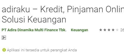 Adiraku - Kredit Pinjaman Online, Solusi Keuangan Yang Terpercaya