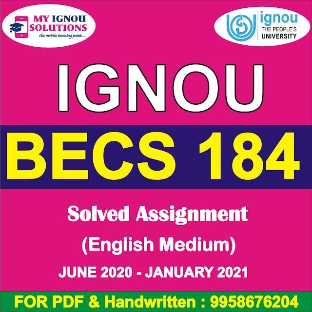 BECS 184 Solved Assignment 2020-21